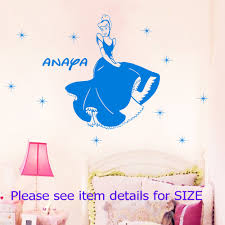 online get cheap fairy princess names aliexpress com alibaba group famous fairy story princess cinderella your name removable stickers vinyl wall art decals mural wall stickers