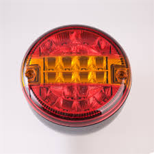4 inch round led tail lights 4 inch 12v 16 led rear automobile round stop tail light red brake