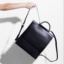 designer sale stylish black leather designer backpack for and on