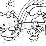 kitty coloring pages birthday gekimoe u2022 63458
