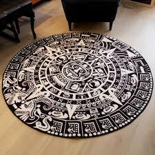 new carpet and mats totem circular carpet black and white europe
