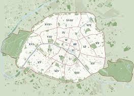 Paris Map Metro by Map Of Paris 20 Boroughs Arrondissements U0026 Districts