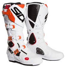 white motocross boots sidi mx boots crossfire 2 srs white orange 2017 maciag offroad