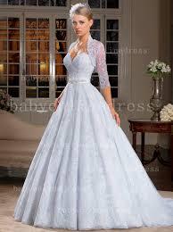 White Wedding Dresses Free Shipping Lace Wedding Dresses A Line Applique Beaded Sash
