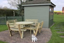 Outdoor Table And Bench Seats Circular Garden Bench Seat Outdoorlivingdecor