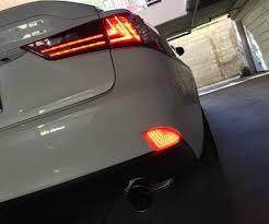 lexus rear bumper install lexus is led rear bumper reflector 7 steps