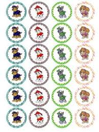 30 paw patrol edible wafer paper cupcake toppers pre cut