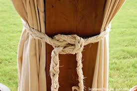 Outdoor Canvas Curtains Diy Patio Curtains From Drop Cloths With No Sewing Scattered