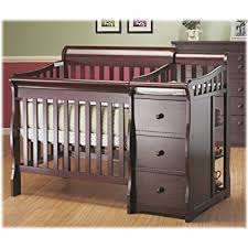 mini crib and changing table amazon com sorelle newport mini convertible crib and changer