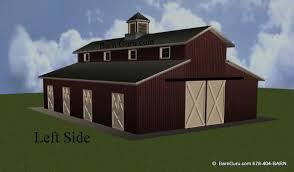 horse barn plans with wash tack feed full bath 6 stalls