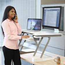 bureau debout assis poste de travail assis debout workfit t