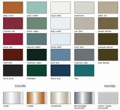 tin roof samples u0026 standing seam color chart sc 1 st new england