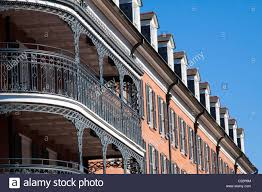 wrought iron balcony railings and rows of dormers on the royal