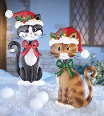 Cat Garden Decor Clever Cute And Festive Cat Christmas Decorations