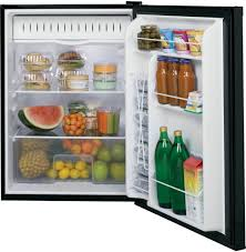 glass door small refrigerator ge gce06gghbb 24 inch built in capable compact refrigerator with