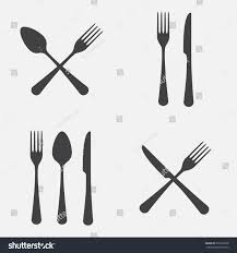 Kitchen Forks And Knives Spoon Fork Knife Icon Set Vector Stock Vector 357670238 Shutterstock
