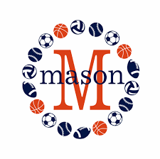 initial and name vinyl wall decal sports wall decal varsity