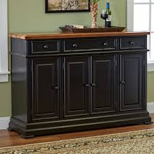 furniture black sideboard buffet with three drawers and simple