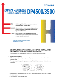 download toshiba dp 4500 service handbook docshare tips