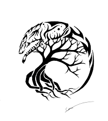 spirit wolf and tree of by calamitymoon on deviantart