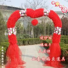 wedding arches supplies wedding arches finished silk flower shelf road lead the wedding