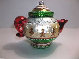 vintage polonaise blown glass englebreit teapot
