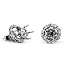 diamond earring jackets white gold diamond earring jackets with stud mountings sissy s log