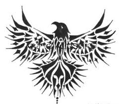 tribal eagle wings tattoo