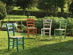 Esszimmerstuhl Venezia Rustikal Stuhl Aus Getöntem Holz Sitz In Reisstroh Idfdesign