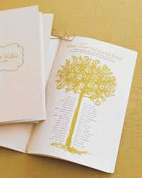 make wedding programs program menu and stationery templates martha stewart weddings