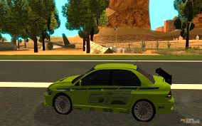 mitsubishi gta mitsubishi lancer evo the fast and the furious 2 for gta san andreas