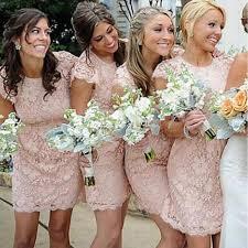 brides dresses fashion cap sleeve small neck blush pink mini cheap