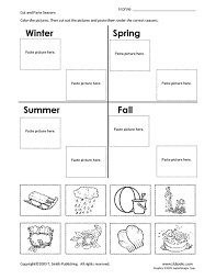 cut and paste seasons 1st 2nd grade worksheet lesson planet