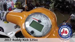 2017 buddy kick 125cc motor scooter youtube