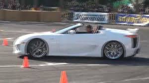 custom lexus lfa surprise lexus lfa roadster makes appearance at drift event