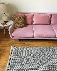Pink Coffee Table Matrix Blush Pink Sofa Sofas Article Modern Mid Century And