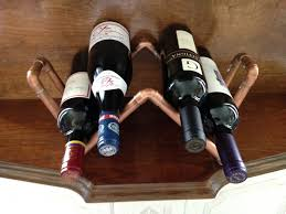 wine rack made from copper pipe wine racks pinterest wine