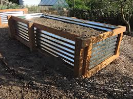 corrugated metal garden beds gardening ideas