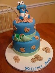 Cookie Monster Baby Shower Decorations Cookie Monster 1st Birthday Cake Kids Pinterest Cookie