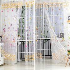 How To Hang Sheer Curtains With Drapes Compare Prices On Sheer Butterfly Curtains Online Shopping Buy