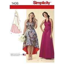 pattern for misses u0027 and plus size special occasion dress simplicity