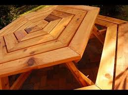 Free Plans Hexagon Picnic Table by How To Build A Picnic Table Hexagonal Picnic Table 1 3 Youtube