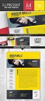 Dj Resume Dj Musician Onepage Press Kit Resume Template
