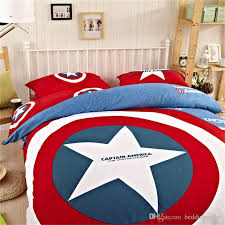 Marvel Bedding Marvel Avengers Bedding Cotton Captain America Duvet Set Sports