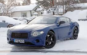 golden bentley spied next gen bentley continental gt caught winter testing