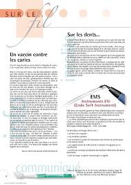 chambre syndicale dentaire le fil dentaire n 2 sep oct 2004 page 26 27 le fil dentaire n