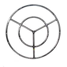 gas fire pit ring dagan industries 22 inch stainless round double natural gas fire