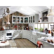 maison du monde küche meuble bas de cuisine avec évier en hévéa gris l 120 cm zinc