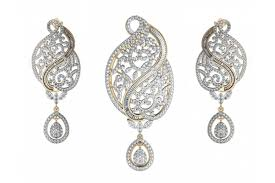 designer diamond sets buy alluring designer diamond pendant set online in india at best