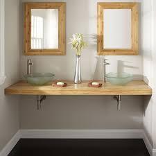salle de bain plan de travail plan de travail de salle de bain bambou 185 cm épaisseur 7 6 cm